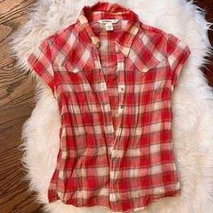 Light Red Button-Up Flannel